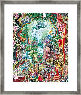 Sinchi Puca Lupuna Framed Print by Pablo Amaringo