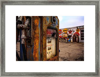 Sinclair Gas Pump Framed Print