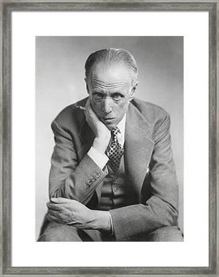 Sinclair Lewis, American Novelist Framed Print by Everett