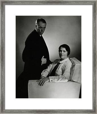 Sinclair Lewis And Dorothy Lewis Framed Print by Edward Steichen