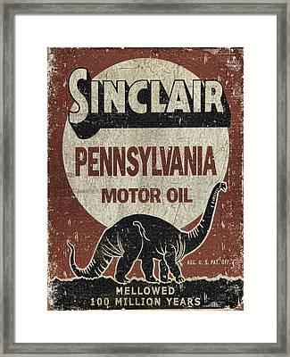 Sinclair Motor Oil Can Framed Print