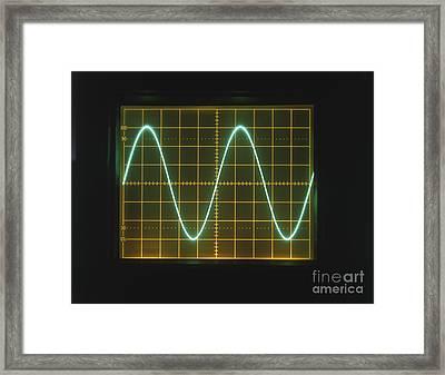 Sine Wave Displayed On Oscilloscope Framed Print by Clive Streeter / Dorling Kindersley / Marconi Instruments Ltd