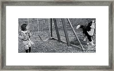 Framed Print featuring the photograph Sing With Me by Barbara Dudley