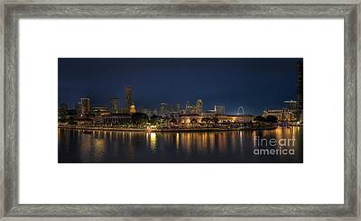 Singapore By Night Framed Print