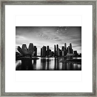 Singapore Marina Framed Print