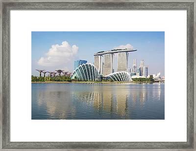 Singapore Skyline Framed Print by Kokkai Ng