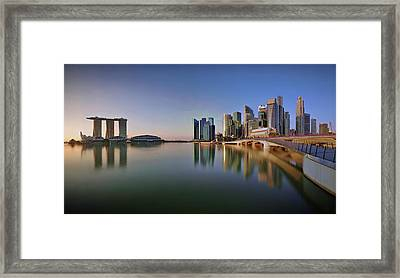 Singapore Skyline Panoramic View Framed Print by © Copyright Kengoh8888