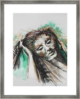 Singer Adele 02 Framed Print by Chrisann Ellis