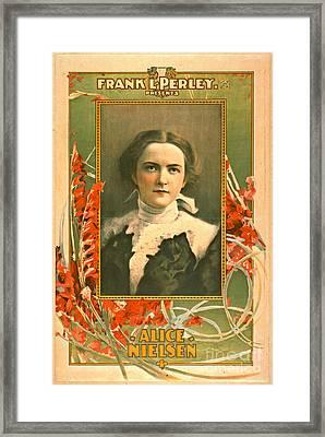 Singer Alice Nielsen 1899 Framed Print by Padre Art