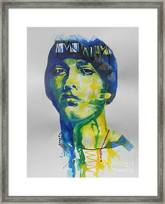 Rapper  Eminem Framed Print by Chrisann Ellis