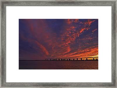 Singer Island Sunrise Framed Print