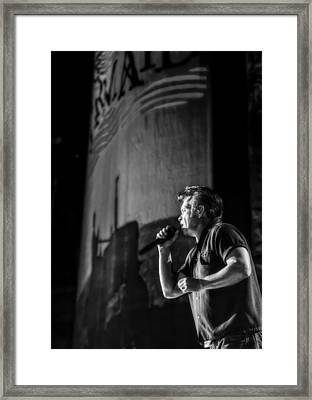 Singer John Mellencamp In Black And White Framed Print by Jennifer Rondinelli Reilly - Fine Art Photography