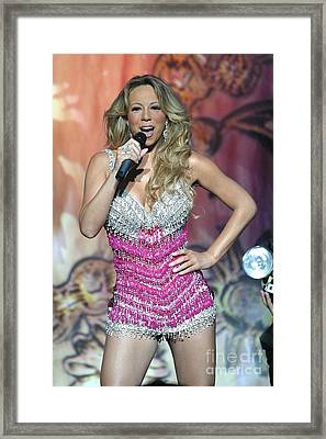 Singer Mariah Carey Framed Print by Concert Photos
