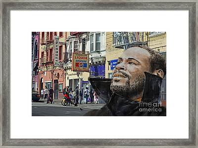 Singer Marvin Gaye What's Going On 2 Framed Print by Jim Fitzpatrick