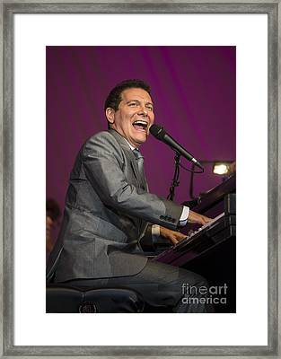 Singer Michael Feinstein Performing With The Pasadena Pops. Framed Print