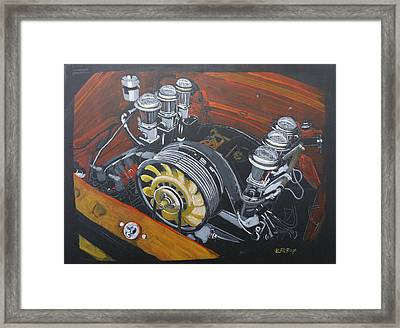 Singer Porsche Engine Framed Print