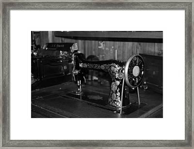 Singer Sew Framed Print by Cecilia Aumen