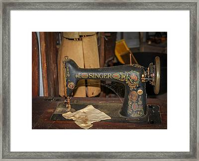 Framed Print featuring the photograph Singer Sewing Machine  by Trace Kittrell
