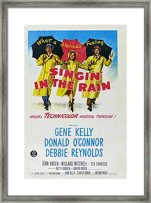Singin In The Rain Framed Print by Georgia Fowler