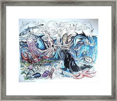 Singing Beach Framed Print by James Oliver