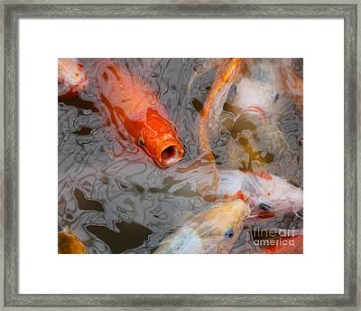 Singing Carp Framed Print by Theresa Willingham