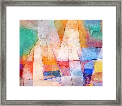 Singing Colors Framed Print