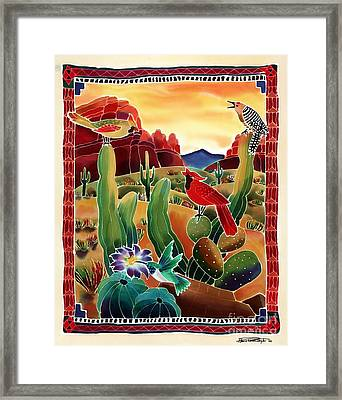 Singing In The Desert Morning Framed Print
