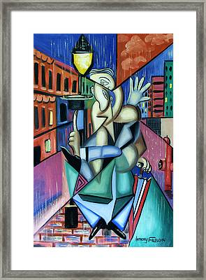 Singing In The Rain Framed Print by Anthony Falbo