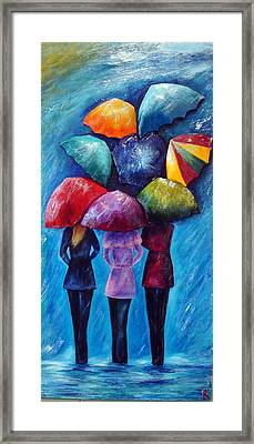 Singing In The Rain Framed Print