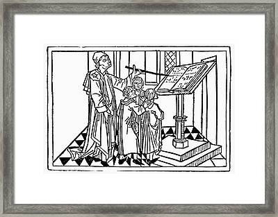 Singing Lesson, C1475 Framed Print