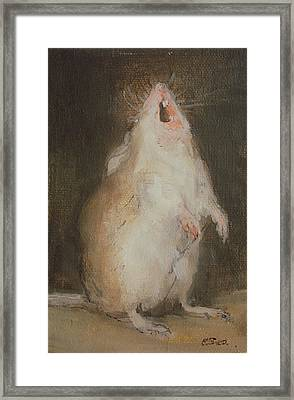 Singing Mouse Framed Print by  Ellie O Shea