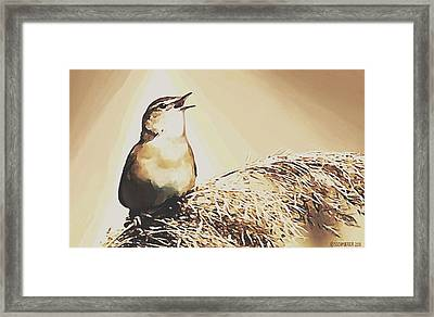 Singing My Heart Out Framed Print by Sophia Schmierer