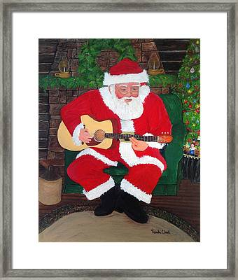 Singing Santa Framed Print