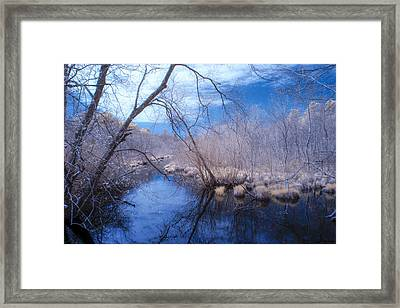 Singing The River Blues Framed Print