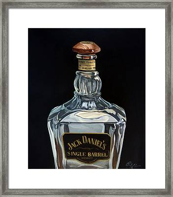 Single Barrel Jack Daniel's Framed Print