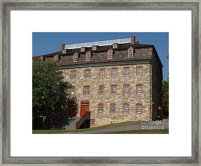 Single Brethren's House -- Moravian College Framed Print by Anna Lisa Yoder