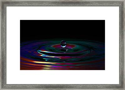 Single Drop Framed Print by Brendan Quinn