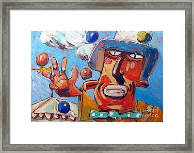 Single Handed Juggling At The Big Top Framed Print by Charlie Spear