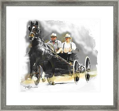 Framed Print featuring the painting Single Horse Power by Bob Salo