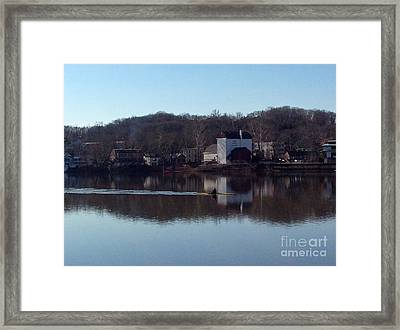 Single Scull On The Delaware Framed Print