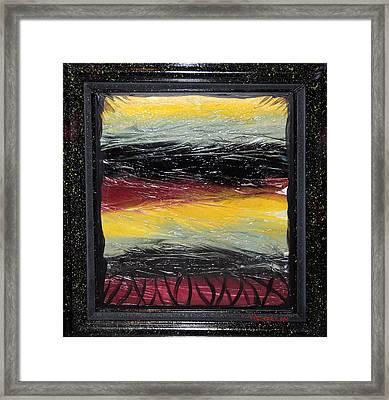 Single Use Bag Sunset 01 Framed Print
