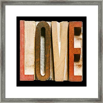 Single Word Love Framed Print