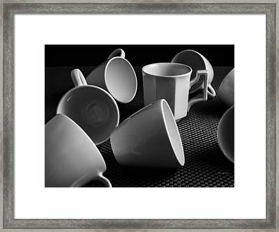Singled Out - Coffee Cups Framed Print