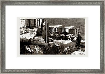 Singles And Doubles In A Common Lodging House Framed Print by Litz Collection