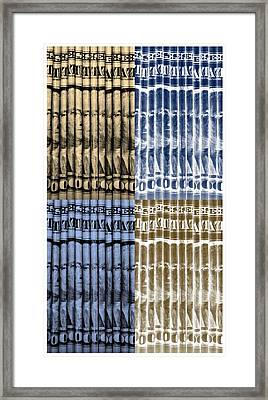 Singles In Gold And Blue Framed Print