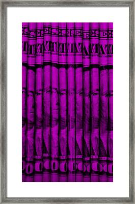 Singles In Purple Framed Print