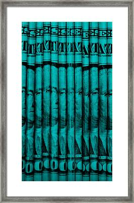 Singles In Turquois Framed Print by Rob Hans