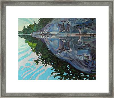 Singleton Marble Framed Print by Phil Chadwick