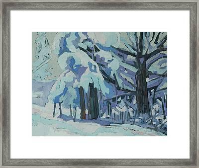 Singleton Snow Day Framed Print