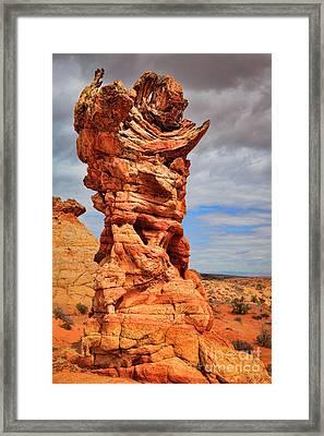 Sinister Hoodoo Framed Print by Inge Johnsson